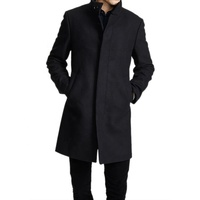 OEM Company Custom Wool Winter Men's Long Coat