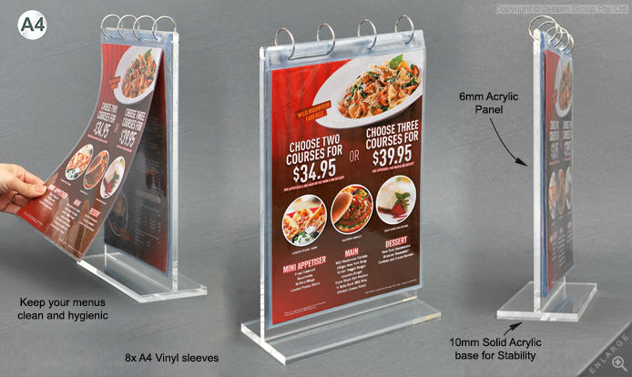Dependable Performance Acrylic Menu Holder/table Display Stand ...