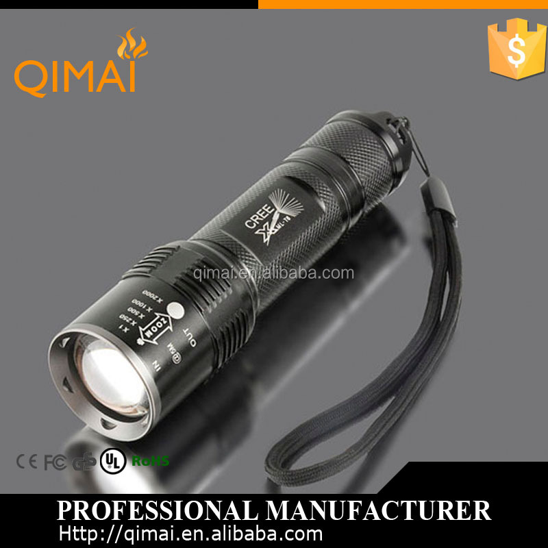 2015 Hot selling Rechargeable zoom 1000lument led flashlight pen High Power LED Flashligh