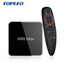 Support voice input Google search H96 MAX X2 digital satellite receiver android smart tv box 4gb ram