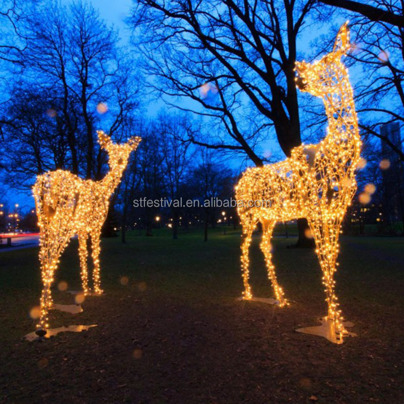 Popular Outdoor Decoration LED Motif Light 3D Reindeer