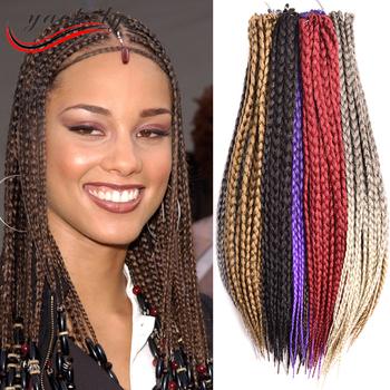 Box braid crochet braids twist synthetic hair extension for black box braid crochet braids twist synthetic hair extension for black women pmusecretfo Gallery