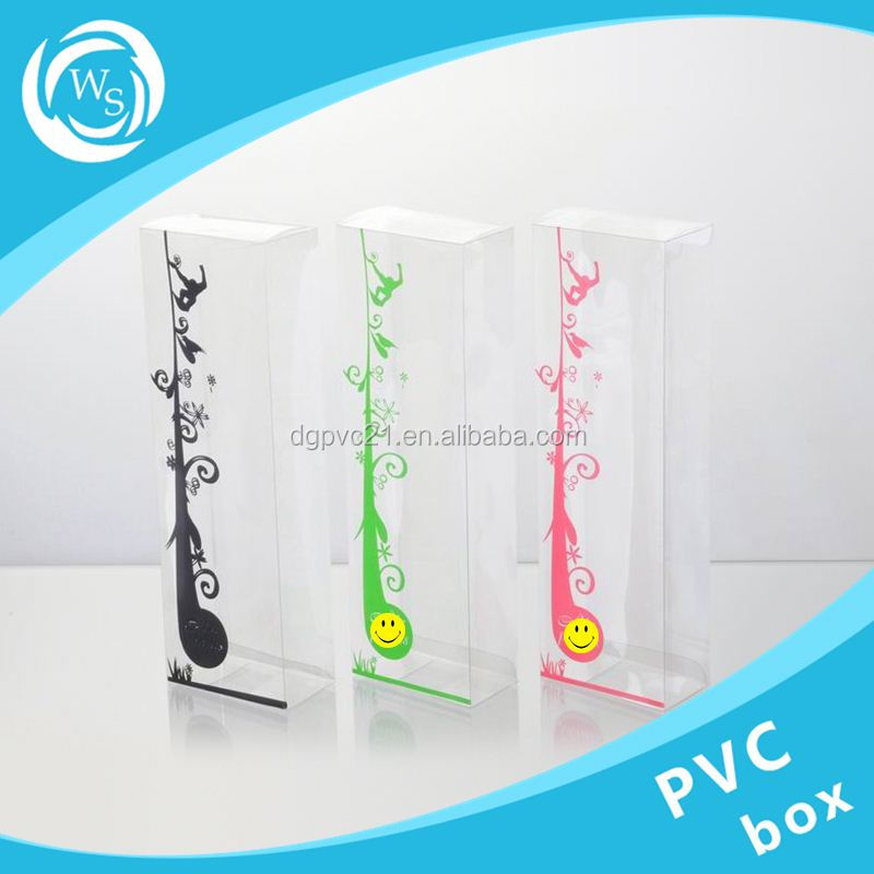 clear transparant container pvc eva pp or pet customized logo printing hard plastic packing box
