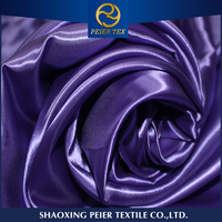 latest style poly satin fabric for ladys dress satin fabric content