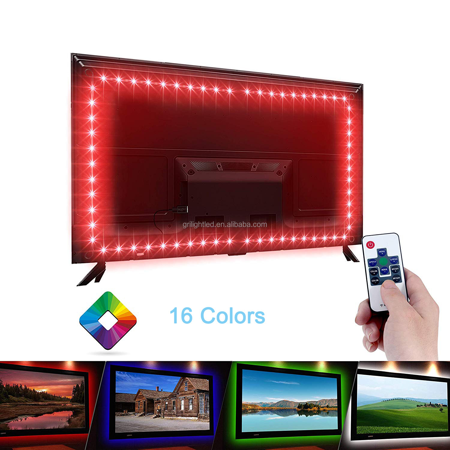 RGB led strip light 5050 flexible TV backlight 5V USB led strip TV led light