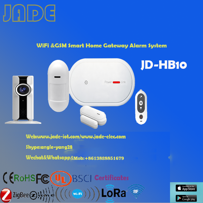 JD-HB10 4G/TCP/IP/WiFi&GSM DIY Smart Home/Smart Gateway System /hub Smart Home System With IP CAMERA,APP control
