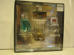 Coty Gift Set - 4 Piece - Nautica Classic .5oz Edt - Mcgraw .5oz Edt - Nautica Regatta.5oz Edt - Intimately Beckham .5oz Edt