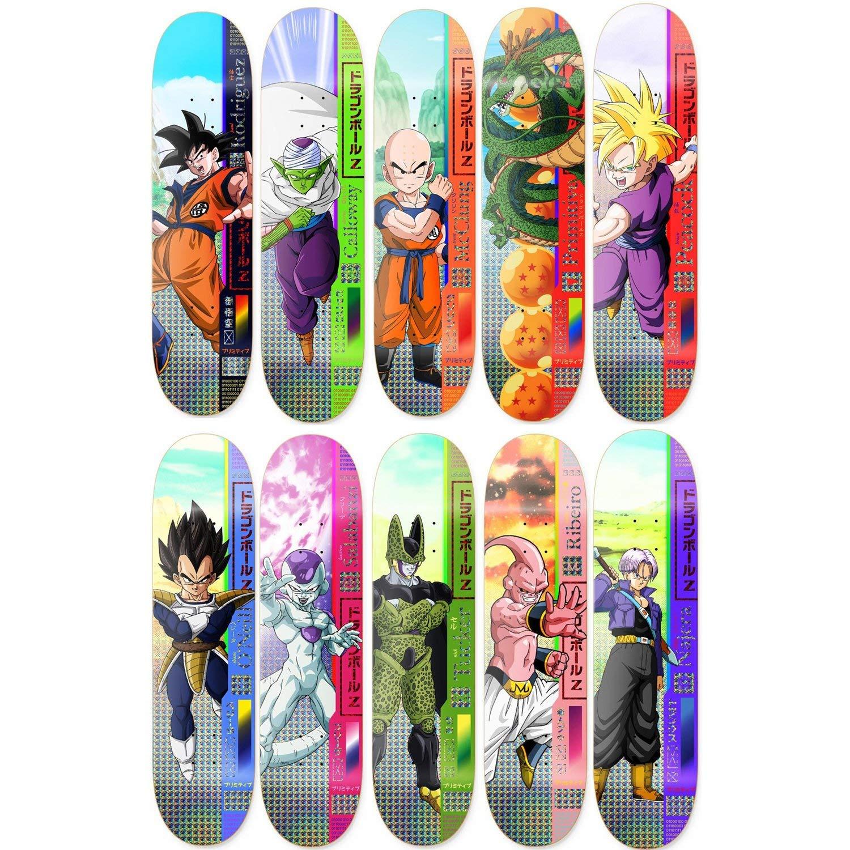 Primitive Dragon Ball Z Skateboard Decks Goku Gohan Vegeta Cell Buu 10 Pack