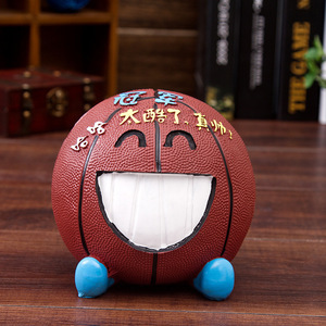 2018 New Design Basketable Resin Coin Bank / Money Saving Box