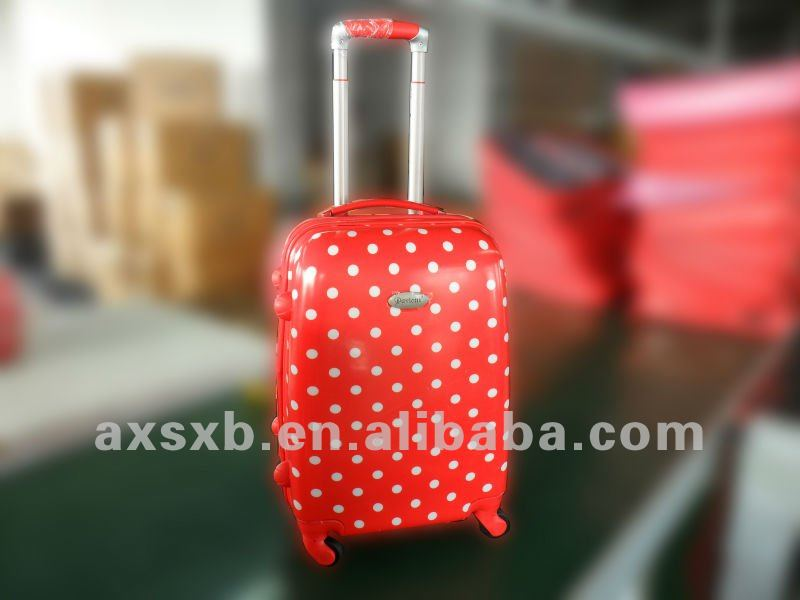 ABS+PC red dots travel trolley box case luggage