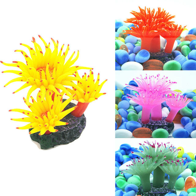 nvie silikon aquarium decor k nstliche coral pflanzenwasser ornamen kostenloser versand in. Black Bedroom Furniture Sets. Home Design Ideas