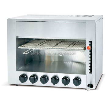 Restaurant Kitchen Gas Salamander With 6 Burners /Stainless Steel Gas  Salamander
