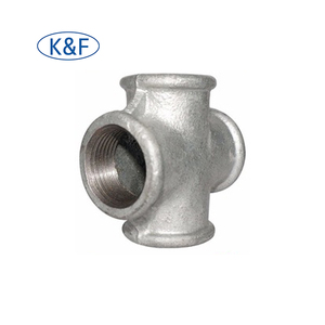 "1/4"" malleable cross Galvanized Malleable Iron Pipe Fittings Bs143 4 Way Cross Pipe Fittings 5 way cross pipe fitting"