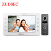 High Quality and Newest Design 4 Wires Video Door Phone with Touch Key Video Doorbell System with 7 Inch TFT Color Monitor