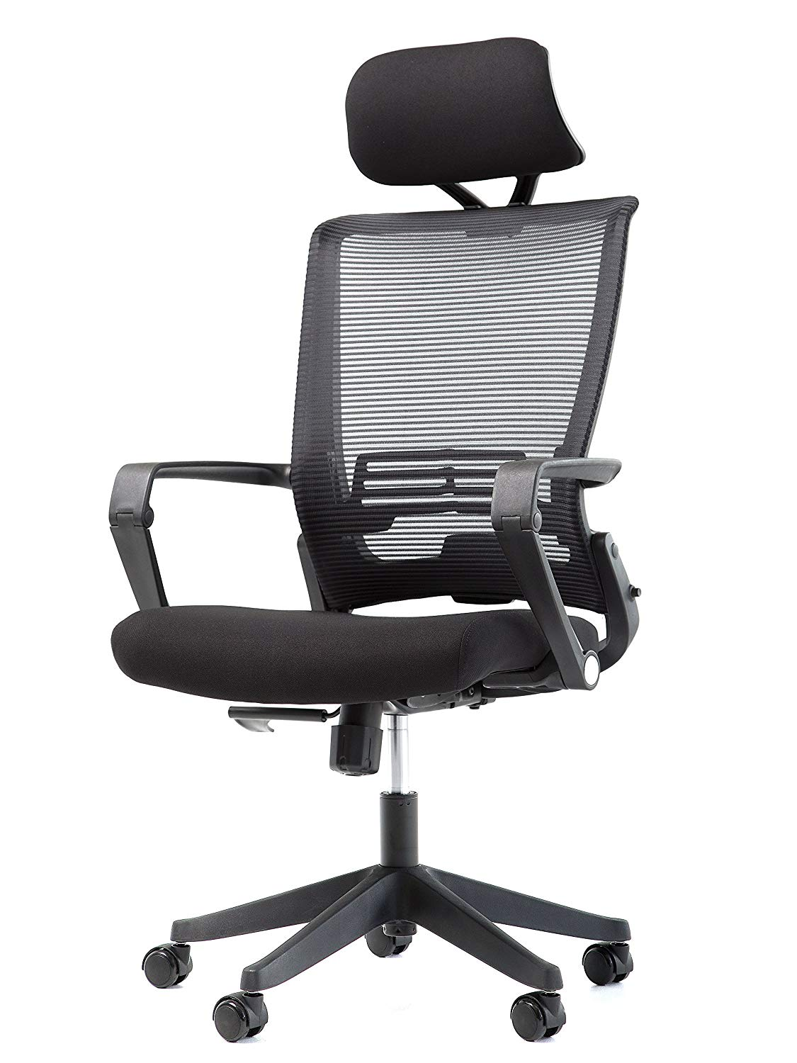 Get Quotations · Office Factor Mesh Back Office Chair With Headrest   Folding Office Chair  Ergonomic Chair For