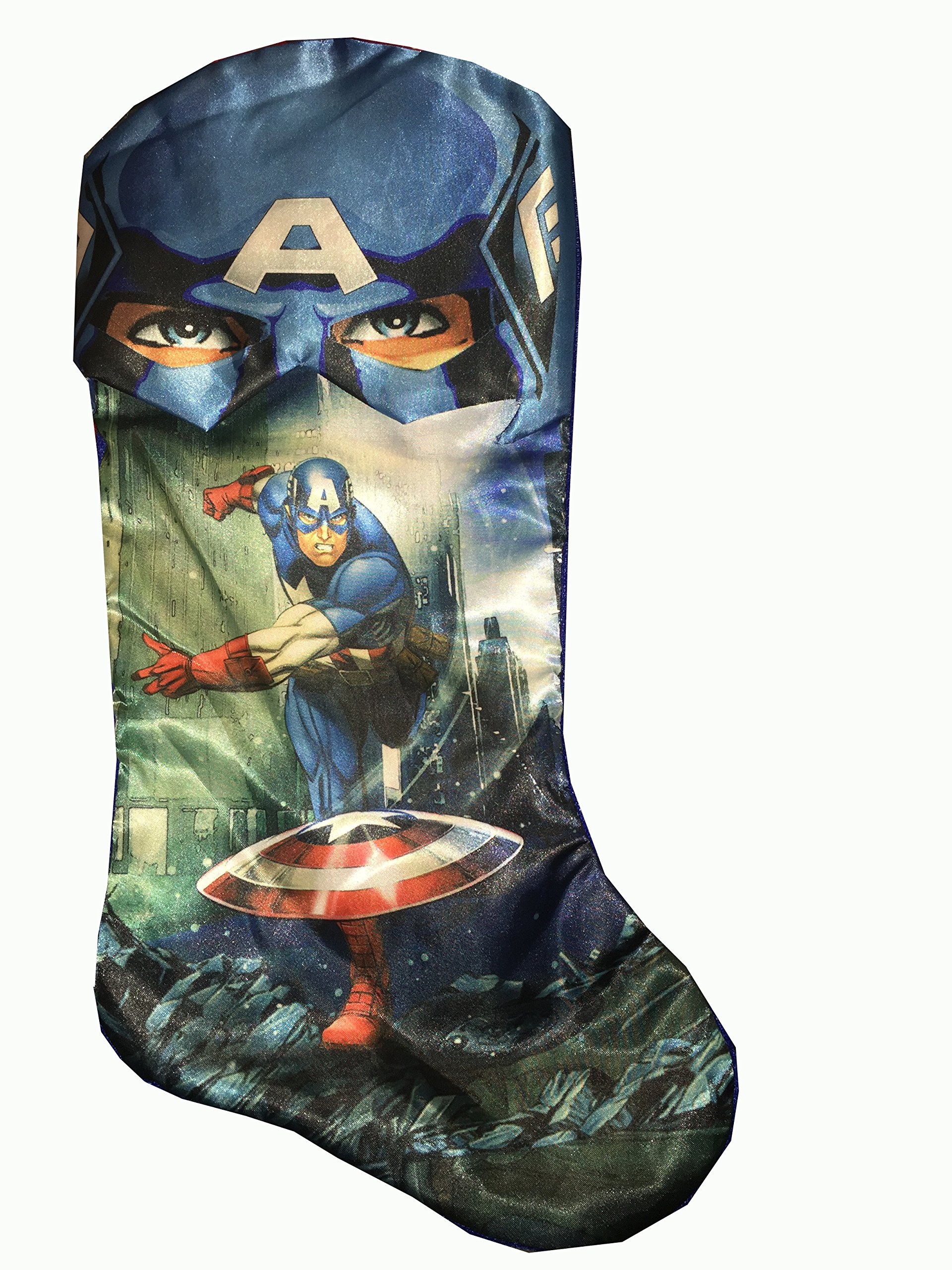 get quotations marvel avengers captain american 19 blue christmas stocking - Blue Christmas Stocking