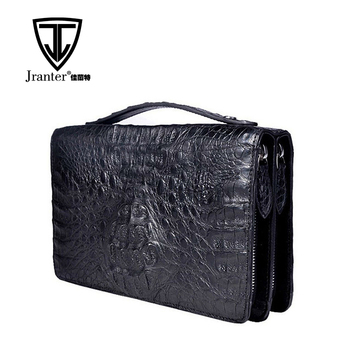100% Genuine Crocodile Leather Briefcase for Men Clutch Bag