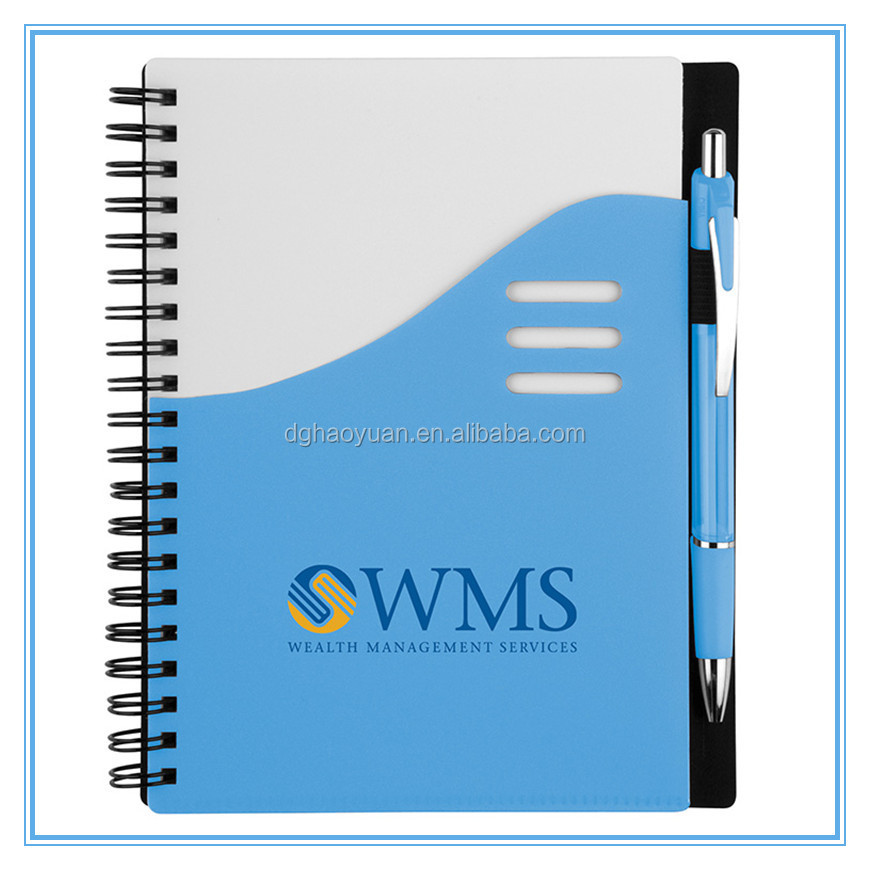 Promotional Logo Printed Cheap Custom Spiral Notebook