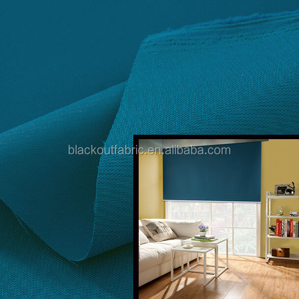 100% Light-proof Blackout Coated Roller Blind Fabric