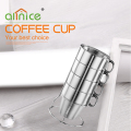 Coffee Tools Stainless steel coffee cups/ Coffee Mug Tea Cup 4pcs set