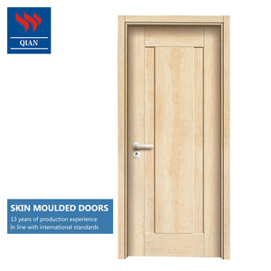 cheap price melamine interior wood door composite utility skin moulded wooden door for apartment
