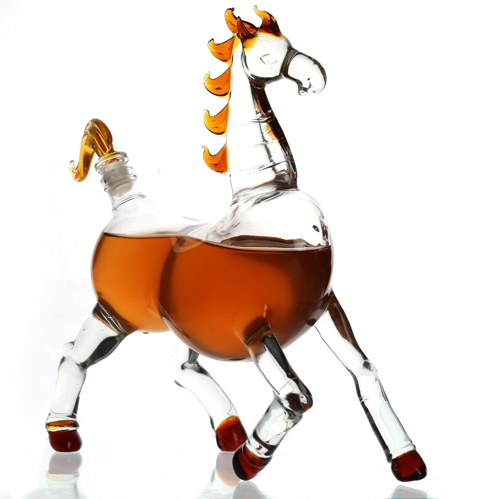 750ml Horse Shaped Wine Decanter
