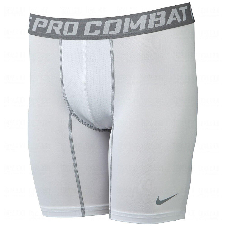 Nike Mern's Pro Combat Base Layer Training Shorts-White