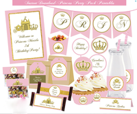 Princess themed birthday party printable- for personal use