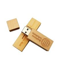 wholesale custom print logo memory u disk usb sticks flash bulk wooden /bamboo usb flash drive
