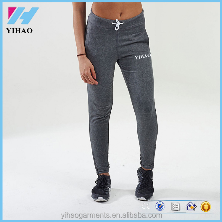 OEM garment factory Custom Wholesale Blank Gym Jogger Dry Fit Sports Pants Womens joggers sportwear gym pants womens bottom 2016