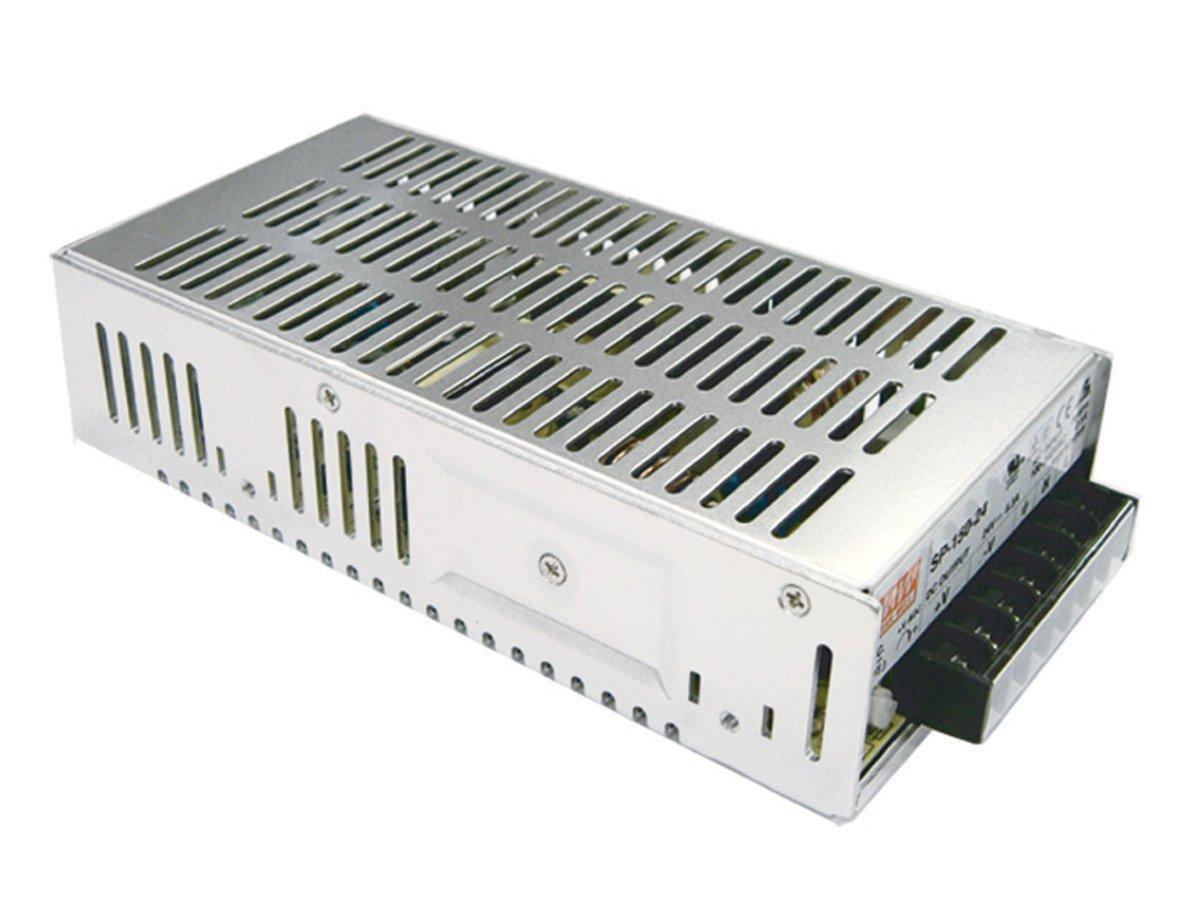 "Mean Well SP-150-24 Power Supply, Single Output, 24 Volt, 6.3 Amp, 150 Watt, 7.0"" L x 3.9"" W x 2.0"" H"