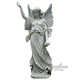 Outdoor Garden Greek Marble Beautiful Guardian Angel Sculpture