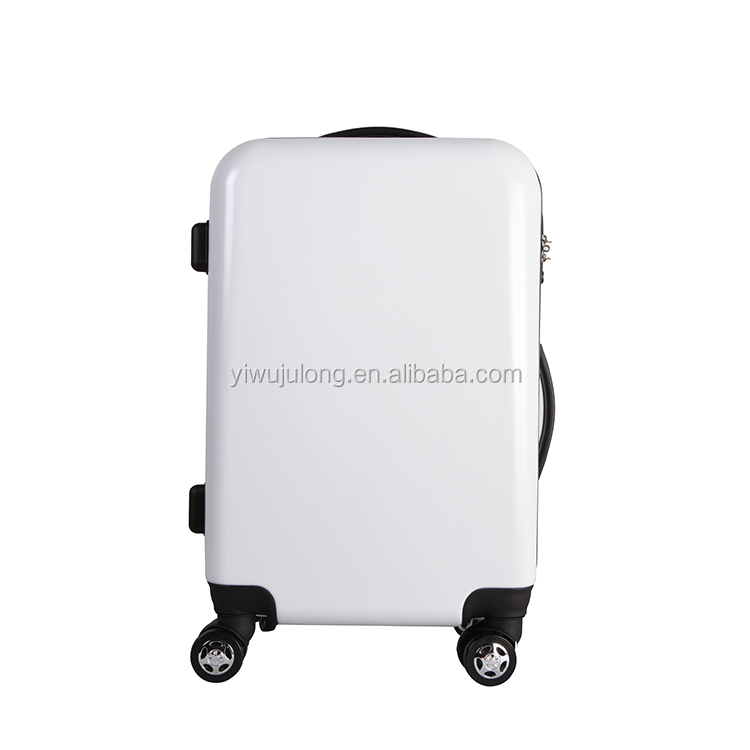 wholesale best urban lightweight cool abs and pc trolley white luggage suitcase