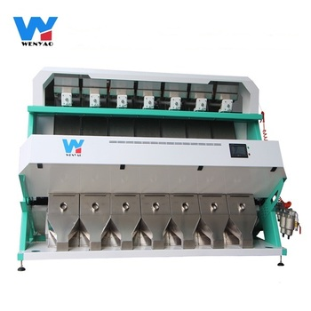 Photo processing technology 7 chutes Unhulled Sesame Seeds Color Sorting Machine