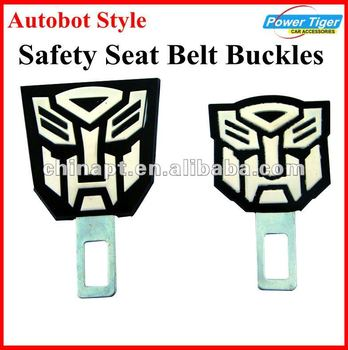 Autobot Style Replacement Stainless Steel Buckles For Car Safety Seat Belts