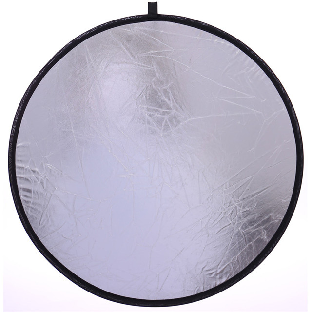 Professional 2 in 1 Silver Gold Portable Light Reflector 60cm