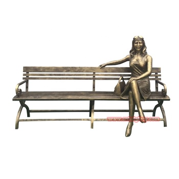 Cnbdglory best sale products Brass woman statue sitting on a chair