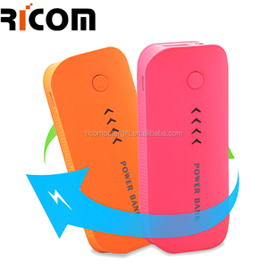 Feather shape power indicator 2pcs 18650 type Mini 2400mah Max 5200mah power bank-PB627D