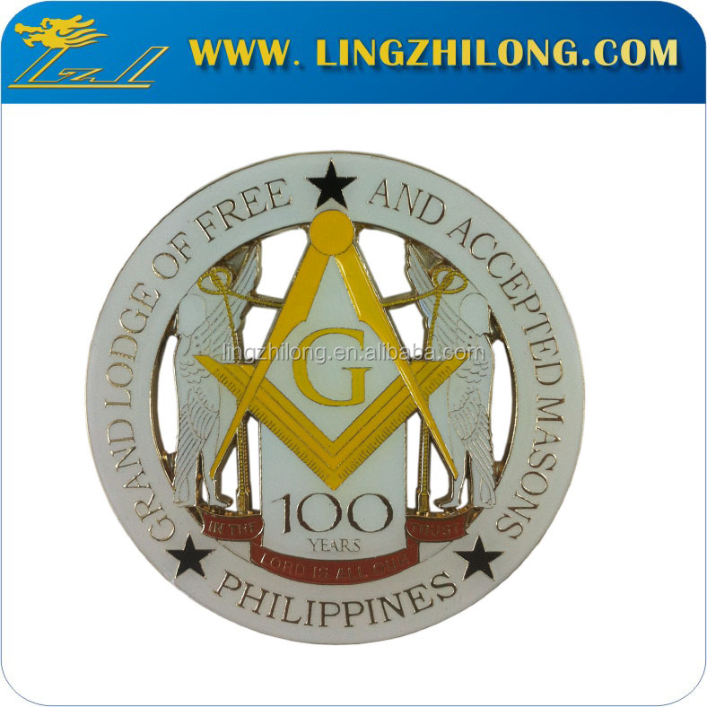 Custom Gold Plated Masonic Car Emblem,Car Sticker,Car Logo