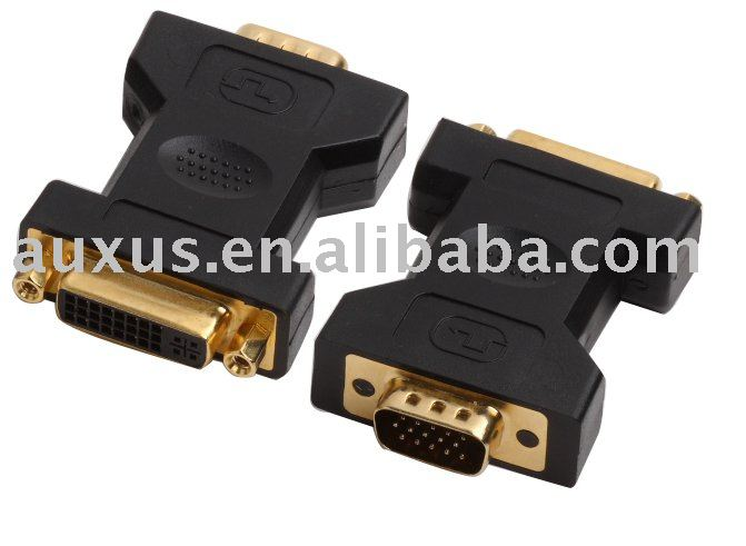 24+5 pin female DVI to VGA male converter, adapter UL ROHS compliant
