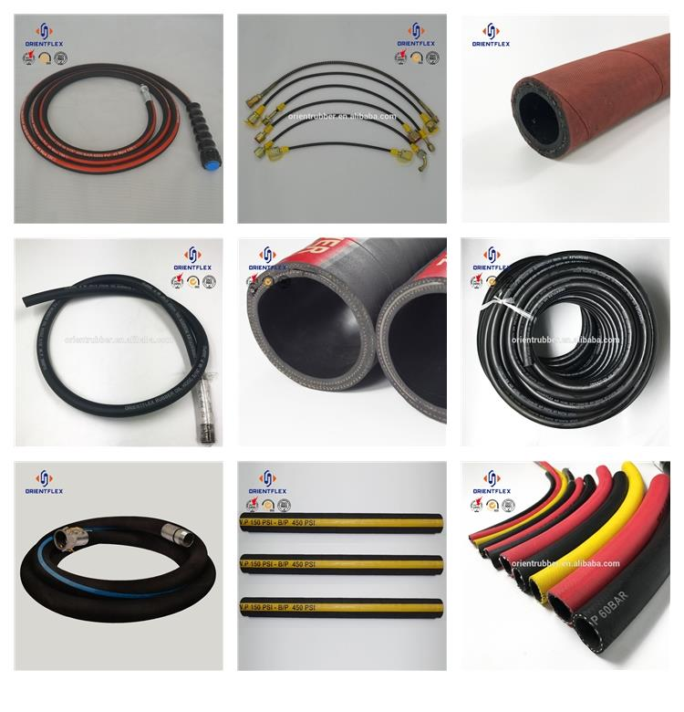 Customized double-wire high / low temperature resistance solvents rubber paint airless spray hose factory wholesale