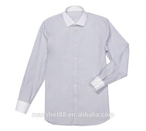 Contrast Collar And Cuff Solid Color Dress Shirt For Men