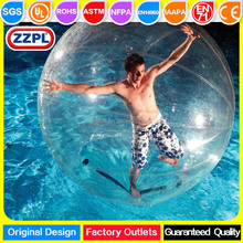 ZZPL commercial PVC/TPU water games inflatable water rolling ball, floating water ball, water walking ball