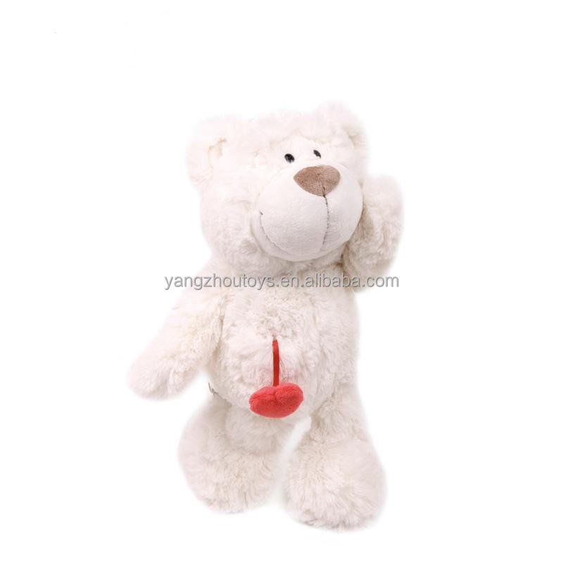 Hot sale EN71 certificated lovely stuffed animal cute plush toy bear with heart