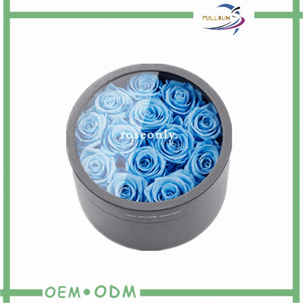 Clear Pvc Round Flower Gift Boxes With Sliver Stamping Logo Ref ...