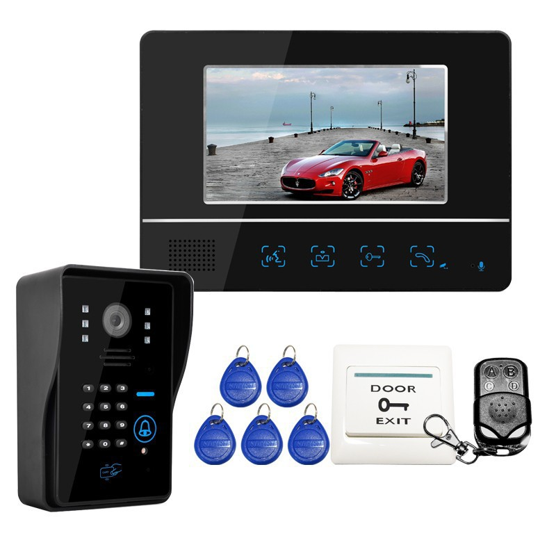 Home Security 7 Inch Video Intercom Door Phone Entry System With ...