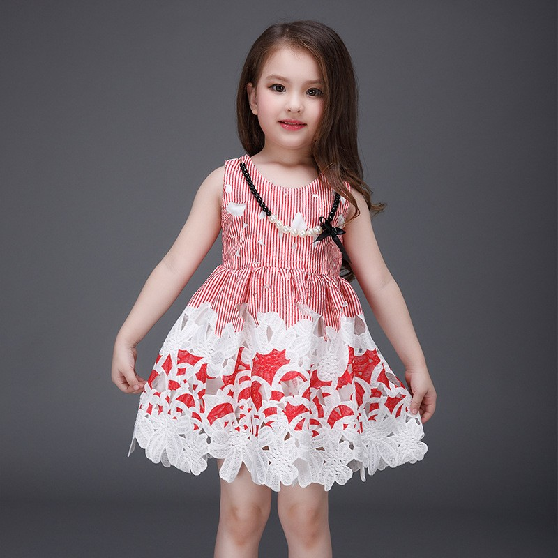 2016 Children Frocks Designs Summer Girl Dress Printing Princess ...