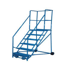 Household steel metal folding 4 step ladders loft ladder with handrail wholesale