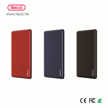Recci brand Lustre series portable power bank/ polymer power bank mobile phone battery with wireless charging function