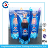 Customized Reusable Juice Drink Food Packaging Bag/ Liquid Beer Stand up Pouch with Top zipper